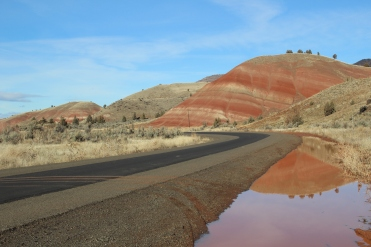 Painted Hills and reflections