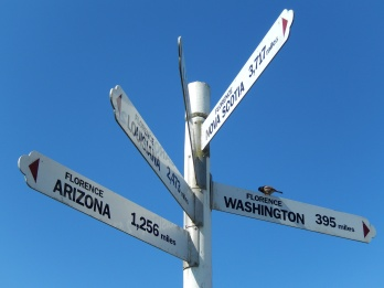 Signs leading to...